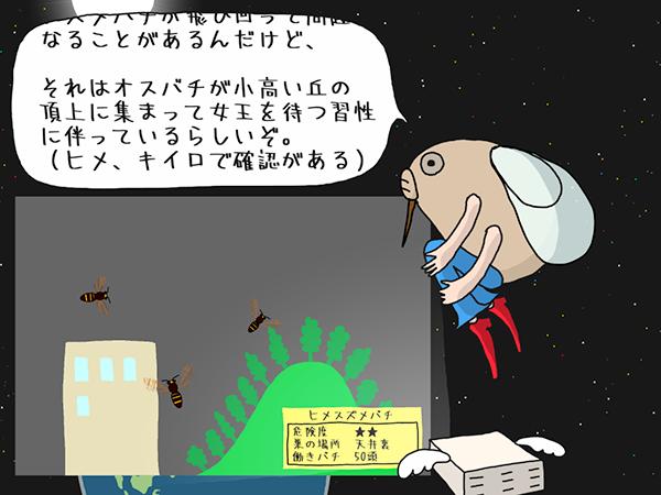 ヒメスズメバチのシーン